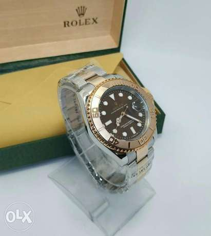 Rolex Yacht Master One Rose Gold With Black First Copy