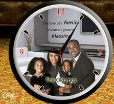 Personalised wall clock for your family or gift