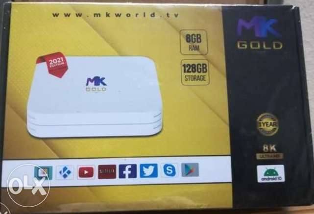 New Android TV box mk world Android with 1year subscription