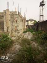 Uncompleted 5 Bedroom Duplex On 1 Plots Of Land In Woji.