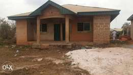 An uncompleted 3unit of room and parlour self contain on a 50 by 100ft