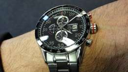 Men's Stainless Steel Chronograph Wristwatch