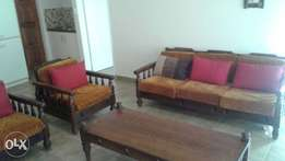 7 seater Imbuia lounge suite