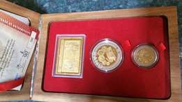 40Gold Set South African Reserve Bank 90th anniversary 2011 set