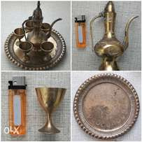 Brass decanter set