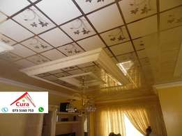 PVC Ceilings and installations , Wooden floors ,Decorated ceiling