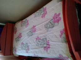 Single Wooden Bed (Pink)