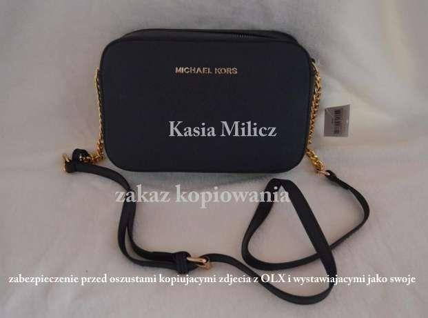 7848f45a55e1a Mała czarna torebka MICHAEL KORS jet set na złotym łańcuchu Milicz - image 1