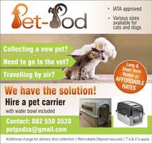 Pet carrier rental services