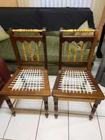 Stink and yellowood chairs chairs perfect condition