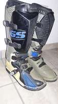 BMW GS boots and Spirit helmet