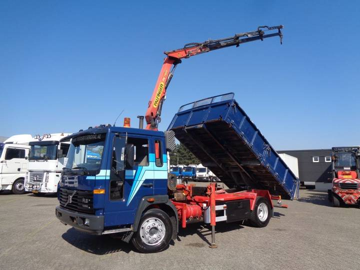 Volvo FL6 TURBO + Manual + PTO + Palfinger crane + Kipper+remote - 1997