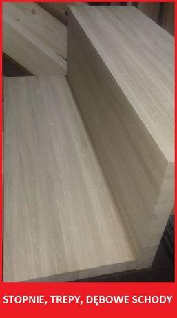 Schody Stopnie Debowe Trepy Drewniane Debowe Lite A B Paprotnia