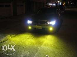 Yellow LED fog bulbs:For Subaru,toyota,bmw,nissan,landrover,vw:14500