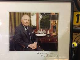Harry Oppenheimer Autographed Picture