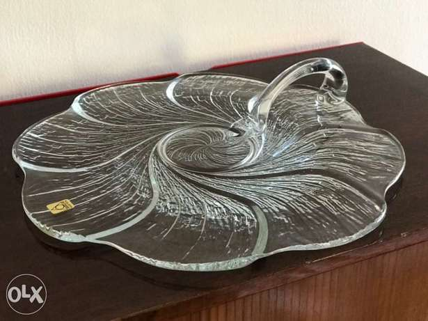 Glass serving plate - Brand New