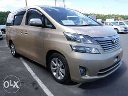 Toyota Vellfire Year 2010 Model Automatic 7 seater Gold Color