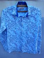 Floral blue shirt small size