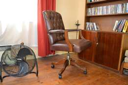 Chesterfield genuine leather chair