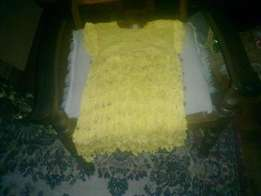 crochet yellow dress 251