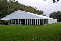 Affordable wedding reception tent and marquee
