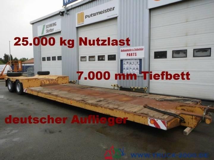Scheuerle Tiefbett-brücke 7 m Höhe 52 cm * 25t. Nutzlast - 1990