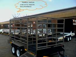 Massive spesials on 3.5m cattle trailers.hook&go