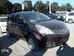 Nissan Note Year 2010 Model Automatic 2WD Petrol Wine Red KCN