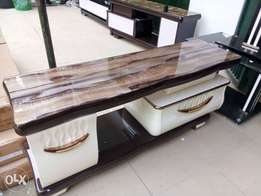 Plasma TV stand with marble top