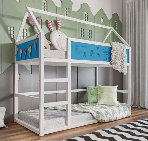 Nowość łóżko Domek 2 Osobowe Stylowe łóżko Dla Dzieci