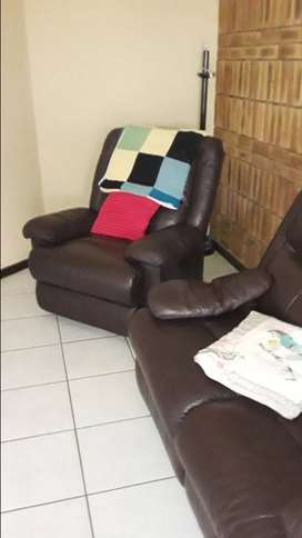 Recliner Leather Lounge Suite In Furniture Decor Olx South Africa