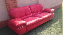 Urgent Sale. Very Beautiful Red Suede couch
