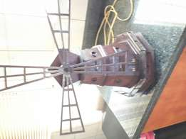 Miniature hand crafted windmill
