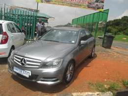 2012 model Mercedes-Benz C 200 automatic used cars for sale in jhb.