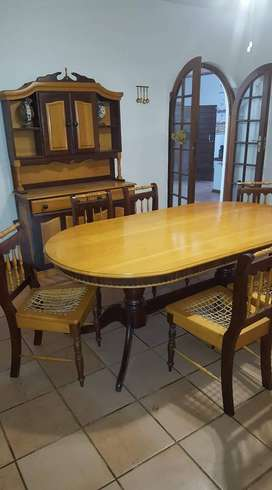 Yellow Wood Dining Room Set