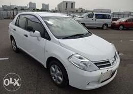 Nissan Tiida Latio Saloon 2011 white 1500cc at 690k