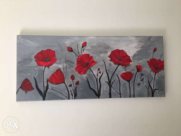 hand painted on canvas (size 30x70)