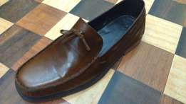 an ACQUILA vintage pure leather loafer size 42(uk 8)