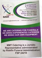 We offer funeral catering assurance underwritten by LIBERTY