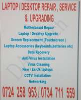 Computer (laptop /desktop)Support Services, repair and upgrade hub