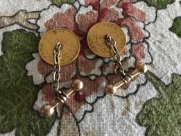 Two Gold Kruger ponds. ( 1896 and 1894 ) Made into cuff links.