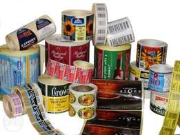 Printing label products