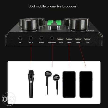 V8 Plus Recording Live Mobile Sound Card With Bluetooth مهبولة -  3