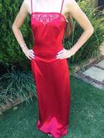 Stunning Ruby Red Skirt and Top Size 12