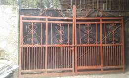 ANTIQUE Wrot Iron Grill Gates