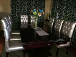 8 King size dinning chairs for R7000