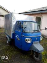 NEW PIAGGIO THREE CYCLE.Keke biult with back container.