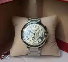 Cartier Chronograph Silver chain wristwatch