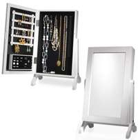 Stunning Mirrored Table Top Jewelry Cabinet