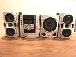 Sony 2.1 Sound System With 3 CD Carousel and Subwoofer